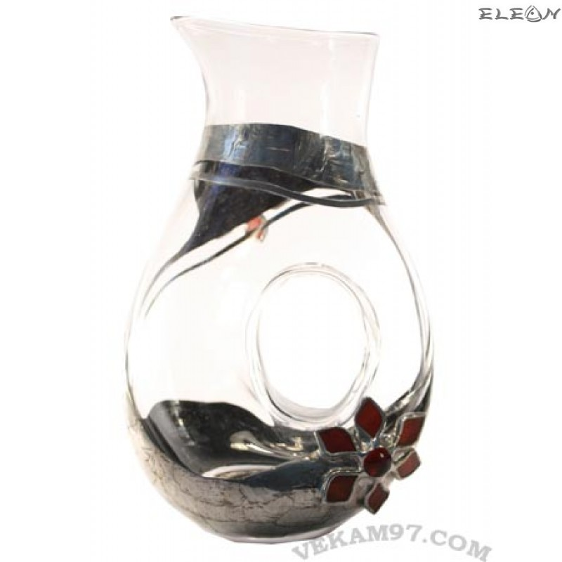 Кана за вино с декорация от седеф