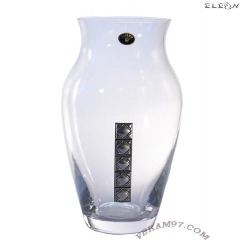 Стъклена Ваза Bohemia със сребро - 8200