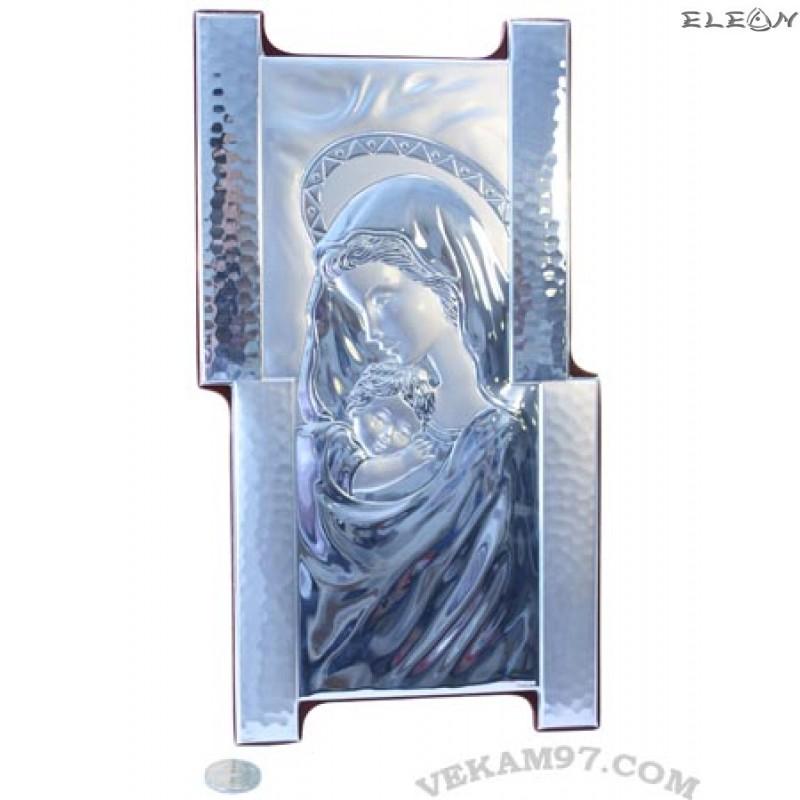 икона сребро Дева Мария с младенеца