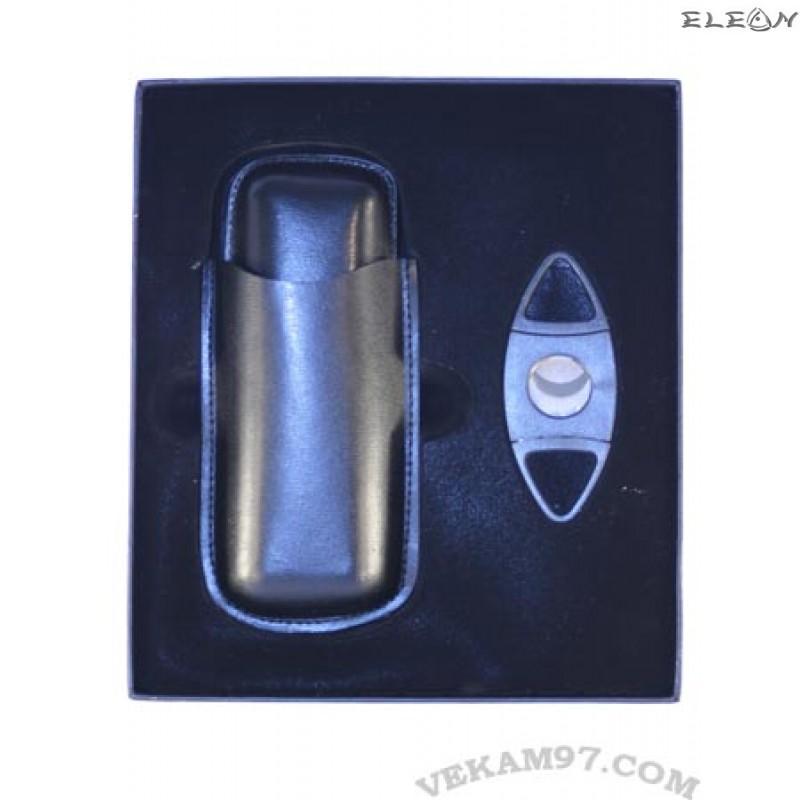 Изискан комплект за пури 2в1 Primus - Кожен калъф и Резачка