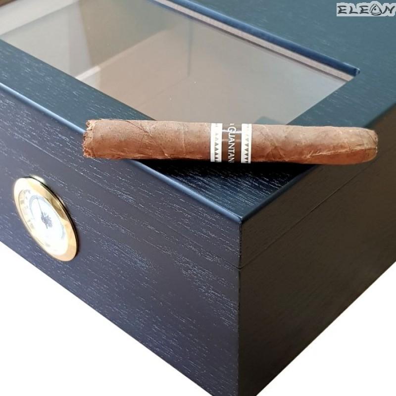 Кутия за пури, стъклен прозорец, външен влагомер, до 30 пури