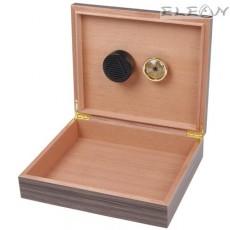 Компактна кутия за пури HADSON побираща до 15 пури - хумидор подходящ за път