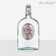 Стъклена Бутилка 500мл с тапа и гравирана плочка - Прабългарин