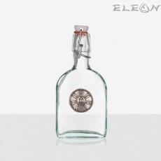 Стъклена Бутилка 200мл с тапа и гравирана плочка розета от Плиска
