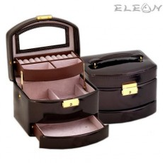 Кутия за бижута - Brown JA1415, средна, 16х14х13см