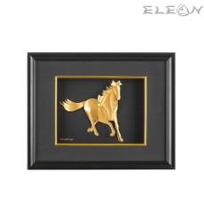 Златна картина КОН ORH19, 24карата, в черна правоъгълна рамка 32/24см