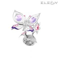 Crystocraft Пеперуда на цвете - Swarovski Crystal RY017