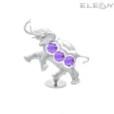Crystocraft Слон сребърен - Swarovski Crystal RY042
