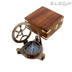 Слънчев часовник в дървена кутия TK18