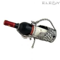 Луксозна стойка за вино грозд, държач за бутилка изработен от пютър, Freitas&Dores WS164