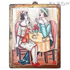 Авторска Картина - Сутрешно Кафе, 15х12см, Емануела