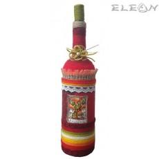 Ръчно декорирано Шише за вино