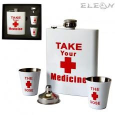 Комплект за първа помощ, манерка за алкохол 180ml, 2бр чашки, фуния, Primus 491160