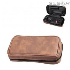Кожена чанта за 2 лули, вадещо се отделение за тютюн, св.кафяв, Angelo 832090