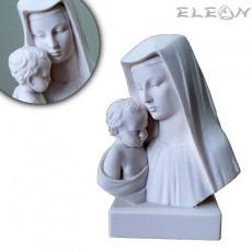Статуетка от алабастър, ДЕВА МАРИЯ с младенеца, 13см, ръчно изработена скулптура, ArtosStyle S3603