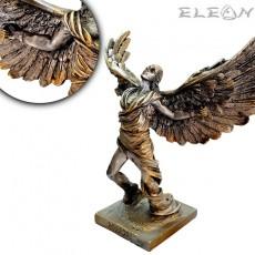 Статуетка Икар 16см, цвят състарено сребро, ръчно изработена скулптура от алабастър, ArtosStyle S4213SL