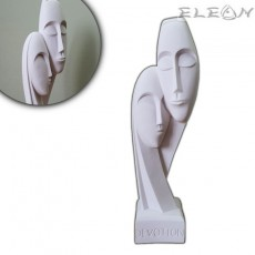 Статуетка DEVOTION от алабастър, 31см, ръчно изработена скулптура, ArtosStyle S7701