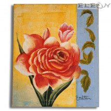 Картина за стена с маслени бои - Червена Роза, 50х60см, Цветя 17, Авторска, Лорета Арт