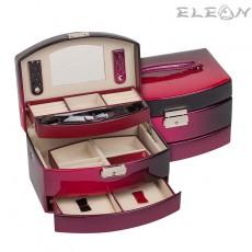 Елегантна и много стилна кутия за бижута Burgundy JA1316