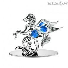 Crystocraft Пегас със синьо камъче - Swarovski Crystal RY099