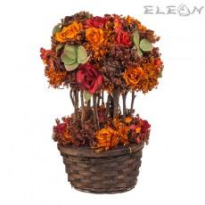 Аранжировка Декоративни Цветя DEL155, есенно настроение, 31см
