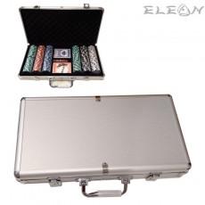 Покер чипове без номинал, луксозен сет 300 чипа в алуминиево куфарче
