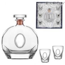 Оригинален подарък за мъж, луксозен сет за ракия от 7 части, RCR Crystal DG072
