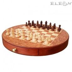 ШАХ магнитен с дървени фигури и дървена дъска - 112