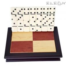 Домино - семейна настолна игра в луксозна дървена кутия