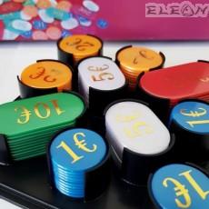 Чипове за покер с номинал, 200 броя в 5 цвята, 8602907