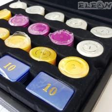 Луксозни Чипове за покер, 95 броя, седефени - 8604224