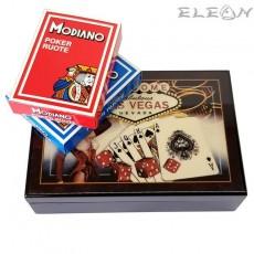 Покер Карти в луксозна дървена кутия, 2 тестета, Las Vegas 8604279