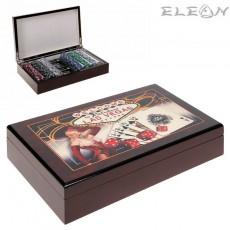 VIP ПОКЕР сет 300 чипа, луксозна дървена кутия - Las Vegas 8604268