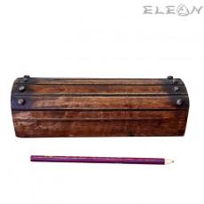 Антична дървена кутия за бюро - кутия за моливи 24см, HI4018