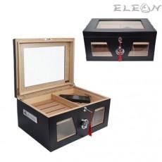 Луксозен кабинетен Хумидор, голяма и стилна кутия за пури побираща 80 и повече пури, 009059