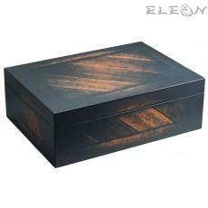 Кутия за пури Vintage, Хумидор за 40 пури, кедрово дърво, Hadson 009432