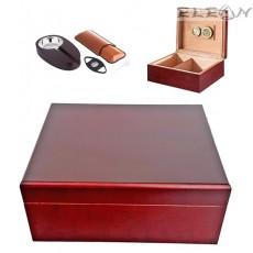 Хумидор - кутия за пури с аксесоари, сет 7 части, подаръчен комплект, Angelo 920290