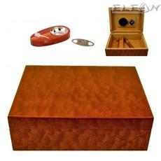 Хумидор сет 6 части, подаръчен комплект аксесоари за пури, Angelo 920600