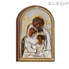Сребърна Икона Свето Семейство, сребърна икона с позлата, 8х11см