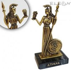 Авторска статуетка богиня АТИНА, бронзова миниатюра с постамент от черен гранит, 12см, 145гр, Mario Art 1214