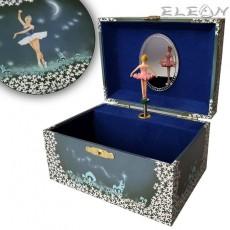 Музикална кутия с танцуваща балерина - звезден танц, 15х11 см, Music Kingdom 22004
