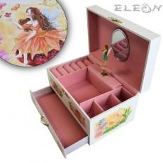 Музикална кутия с чекмедже, малката фея, 18х12 см, Music Kingdom 22048