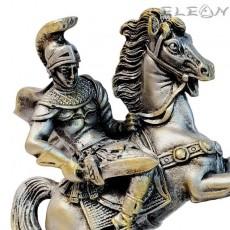 Статуетка АЛЕКСАНДЪР велики на кон, 17см, алабастър, ArtosStyle S7203SL
