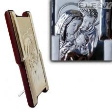 Икона Свето Семейство, сребърна икона 925 с гръб дърво, 6х11см