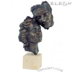 Статуетка ОТДАДЕНОСТ 123, скулптура от металокерамика, 42см