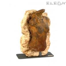 Статуетка каменен ЖЕНСКИ ТОРС 159, скулптура от металокерамика, 35см