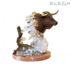 статуетка БИК от бронз и букет от скъпоценни камъни