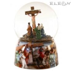Музикална топка MusicWorld 25207, преспапие ВЪЗКРЕСЕНИЕ, свири JESUS