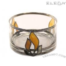 Стъклена Купичка за ядки със седеф - 15059