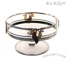 Стъклена Фруктиера със седеф - 19350-S